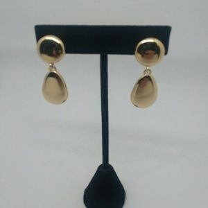 Gold-Tone Drop CLIP-ON Earrings